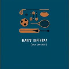 verjaardagskaart woodmansterne - happy birthday - sport
