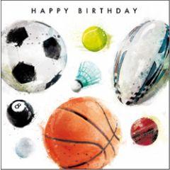 verjaardagskaart - happy birthday - sport