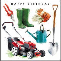 verjaardagskaart - happy birthday - tuin