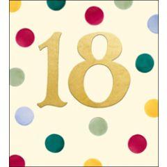verjaardagskaart woodmansterne - 18 jaar - stippen