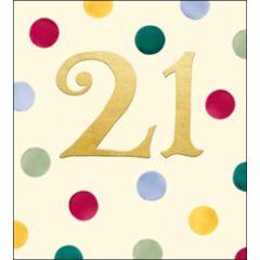 verjaardagskaart woodmansterne - 21 jaar - stippen