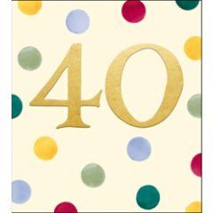 verjaardagskaart woodmansterne - 40 jaar - stippen