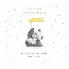 wenskaart woodmansterne - new baby grandchild - panda