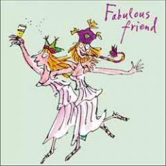 wenskaart quentin blake - fabulous friend