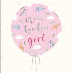 wenskaart woodmansterne - new baby girl - ballon
