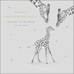wenskaart woodmansterne - proud grandparents - giraffes