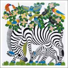 wenskaart woodmansterne - zebra's