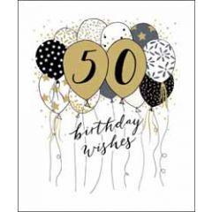 50 jaar - grote wenskaart woodmansterne - birthday wishes