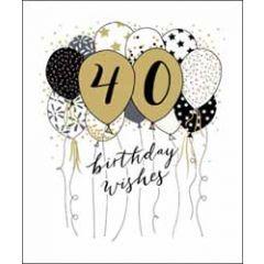 40 jaar - grote wenskaart woodmansterne - birthday wishes