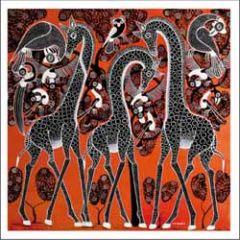 wenskaart woodmansterne - giraffes
