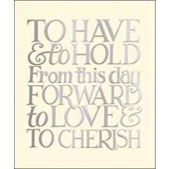 grote trouwkaart woodmansterne - to have & to hold from this day forward to love & to cherish