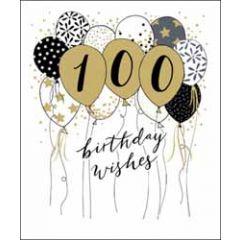100 jaar - grote wenskaart woodmansterne - birthday wishes
