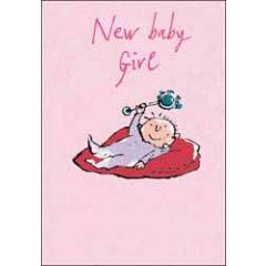 wenskaart quentin blake - new baby girl
