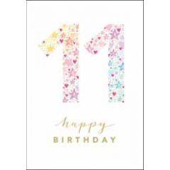 11 jaar - wenskaart woodmansterne - happy birthday