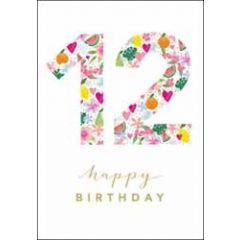 12 jaar - wenskaart woodmansterne - happy birthday