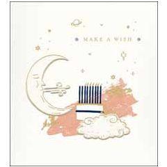 wenskaart woodmansterne - make a wish - maan
