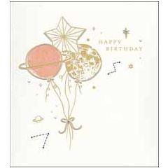 wenskaart woodmansterne - happy birthday - planeten en sterren