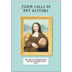 wenskaart woodmansterne - zoom calls of art history - the 'said your goodbyes but can't find the leave button' smile