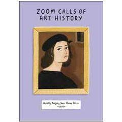wenskaart woodmansterne - zoom calls of art history - quietely judging your home décor