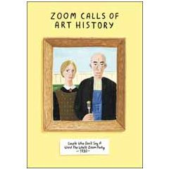 wenskaart woodmansterne - zoom calls of art history - couple who don't say a word the whole zoom party