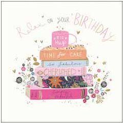 wenskaart woodmansterne - relax on your birthday - boeken