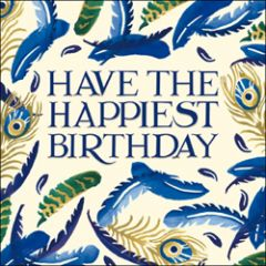 verjaardagskaart woodmansterne - have the happiest birthday - veren