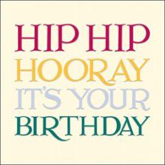 verjaardagskaart woodmansterne - hip hip hooray it's your birthday