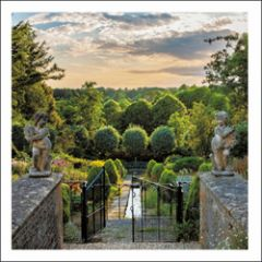 wenskaart woodmansterne - tuin achter poort