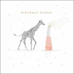 verjaardagskaart woodmansterne - birthday wishes - giraffe