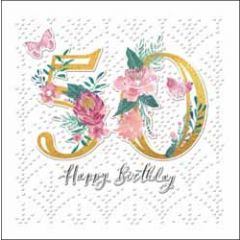 50 jaar - verjaardagskaart woodmansterne - happy birthday