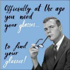 verjaardagskaart woodmansterne - age you need your glasses to find your glasses