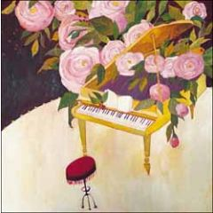 wenskaart woodmansterne ashmolean - vleugel en rozen