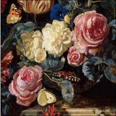 wenskaart woodmansterne ashmolean - willem van aelst - vaas met bloemen