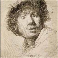 wenskaart woodmansterne ashmolean - rembrandt