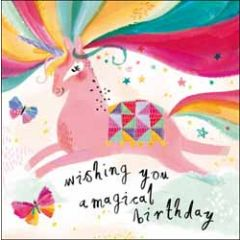 verjaardagskaart woodmansterne - wishing you a magical birthday - eenhoorn