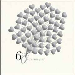 60 jaar getrouwd - wenskaart woodmansterne - 60 diamond years - harten