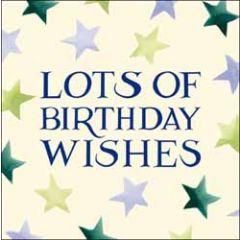 wenskaart woodmansterne - lots of birthday wishes - sterren