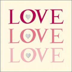 wenskaart woodmansterne - love love love