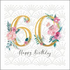 60 jaar - luxe verjaardagskaart woodmansterne - happy birthday