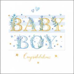 luxe geboortekaart woodmansterne - baby boy congratulations