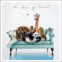 wenskaart woodmansterne - the best of friends - dieren