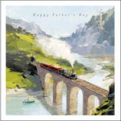 vaderdagkaart woodmansterne - happy father's day - stoomtrein