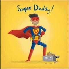wenskaart woodmansterne - super daddy - superheld