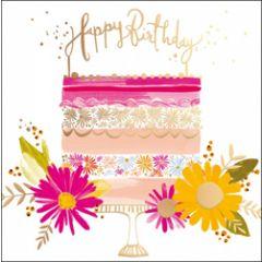 wenskaart woodmansterne - happy birthday - taart
