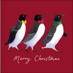 5 kerstkaarten woodmansterne - merry christmas - pinguins