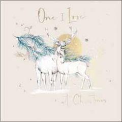 kerstkaart woodmansterne - one I love at christmas - herten