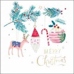 kerstkaart woodmansterne - merry christmas - kerstversiering