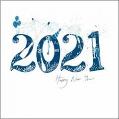 nieuwjaarskaart woodmansterne - 2021 - happy new year - vuurwerk
