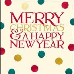 kerstkaart woodmansterne - merry christmas & happy new year - stippen
