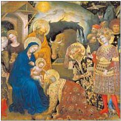 6 luxe christelijke kerstkaarten woodmansterne - adoration of the magi | muller wenskaarten